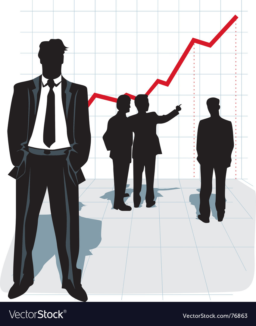 illustration of businessman silhouette royalty free vector