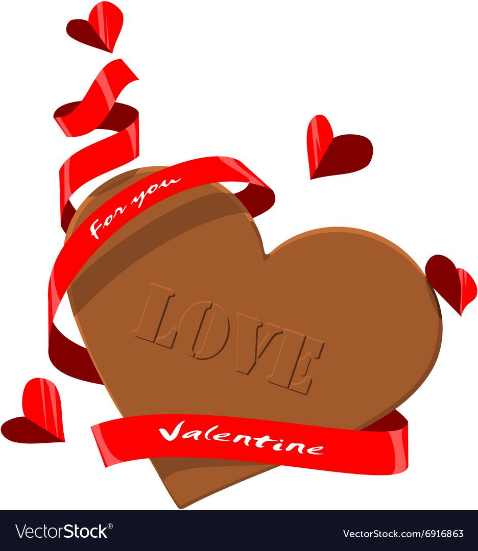 Valentine Chocolate Royalty Free Vector Image Vectorstock