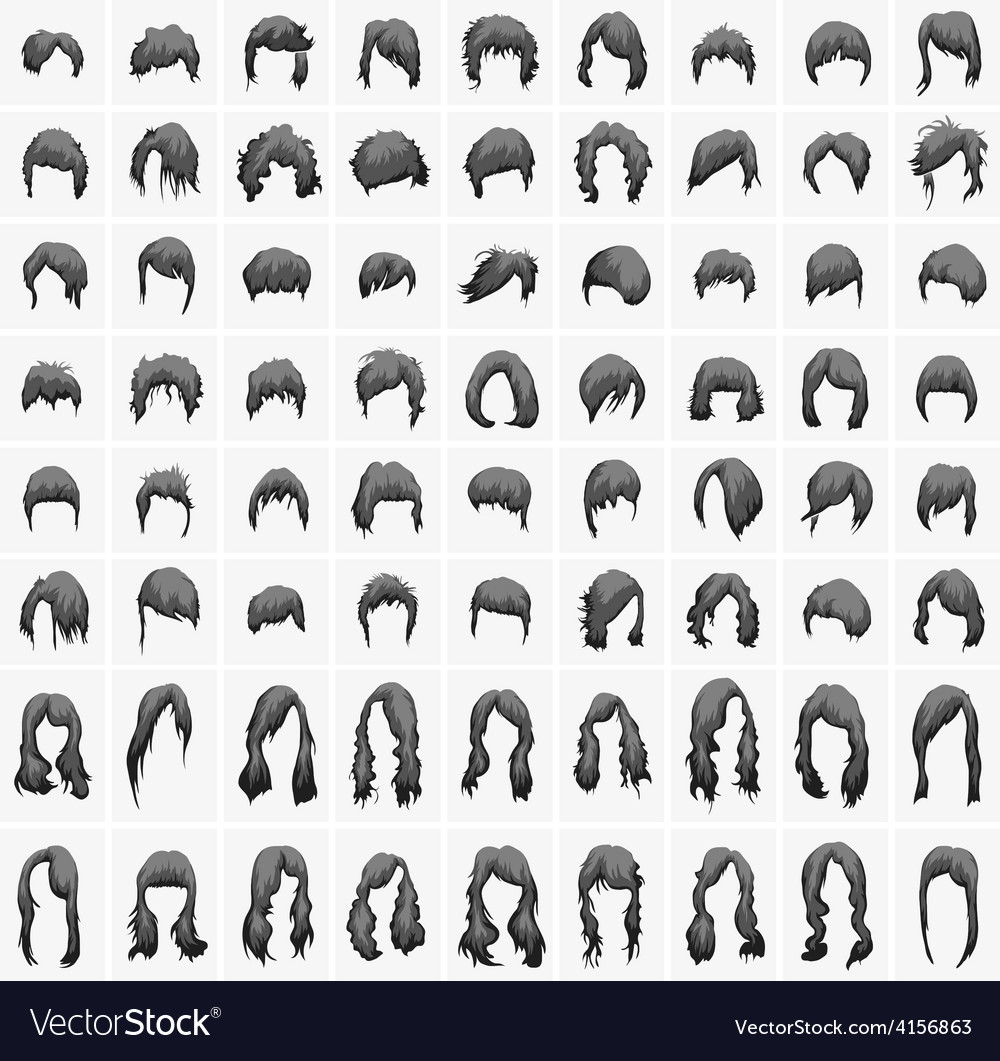 Women hairstyles and haircuts in black tones