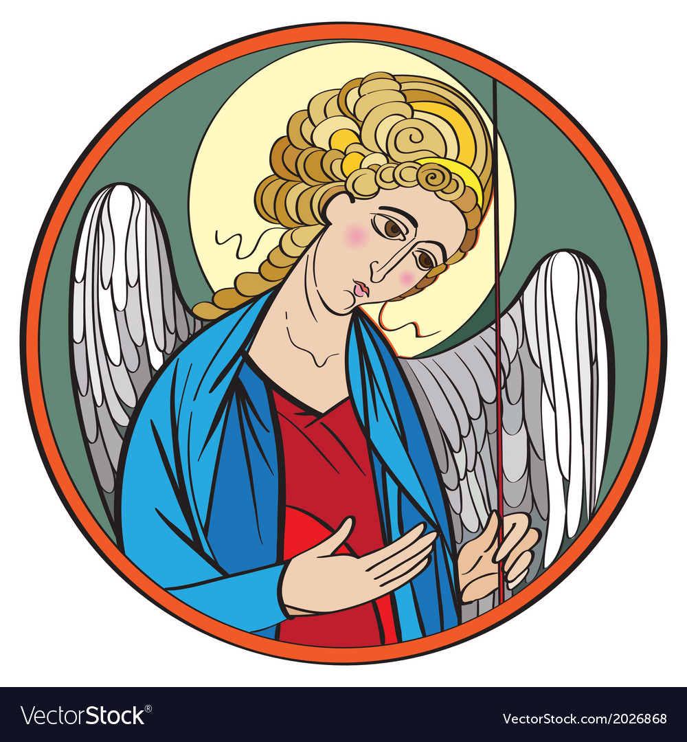 Archangel colored drawing