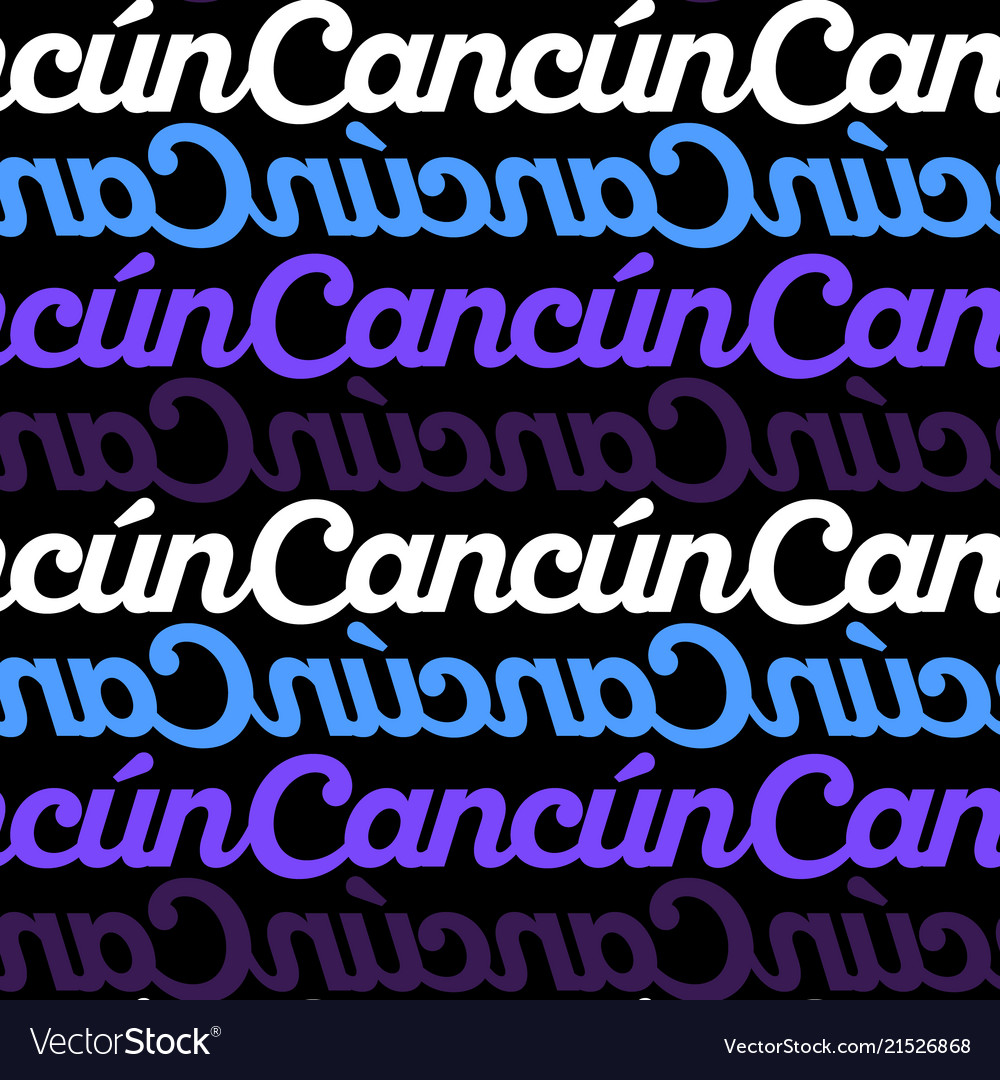 Cancun Mexico Seamless Pattern Royalty Free Vector Image