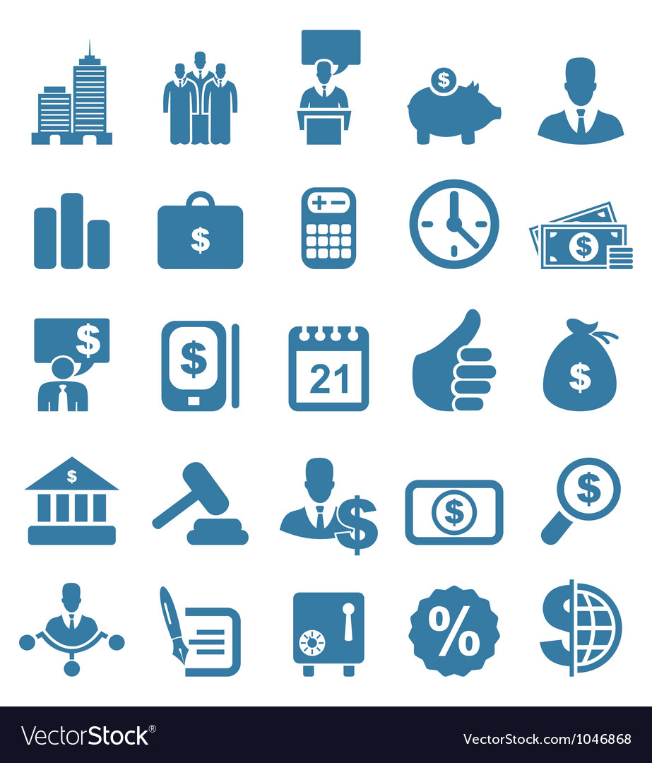 Icon business7 vector image