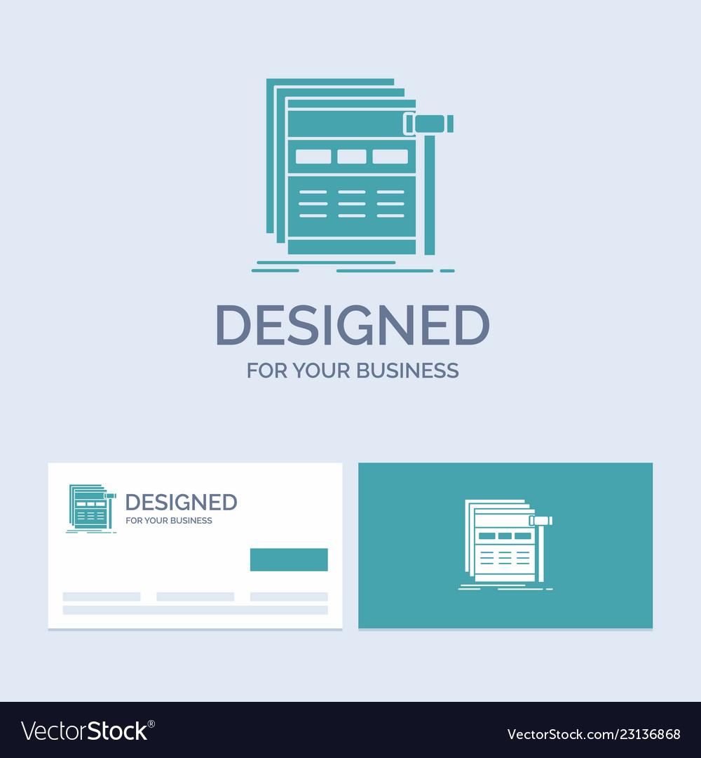 Internet page web webpage wireframe business logo