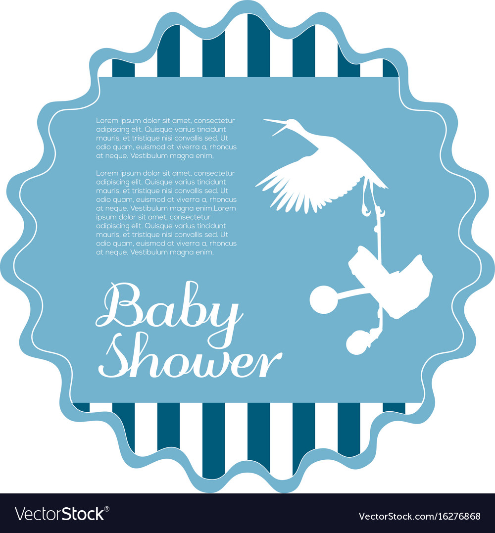 Isolated baby shower label