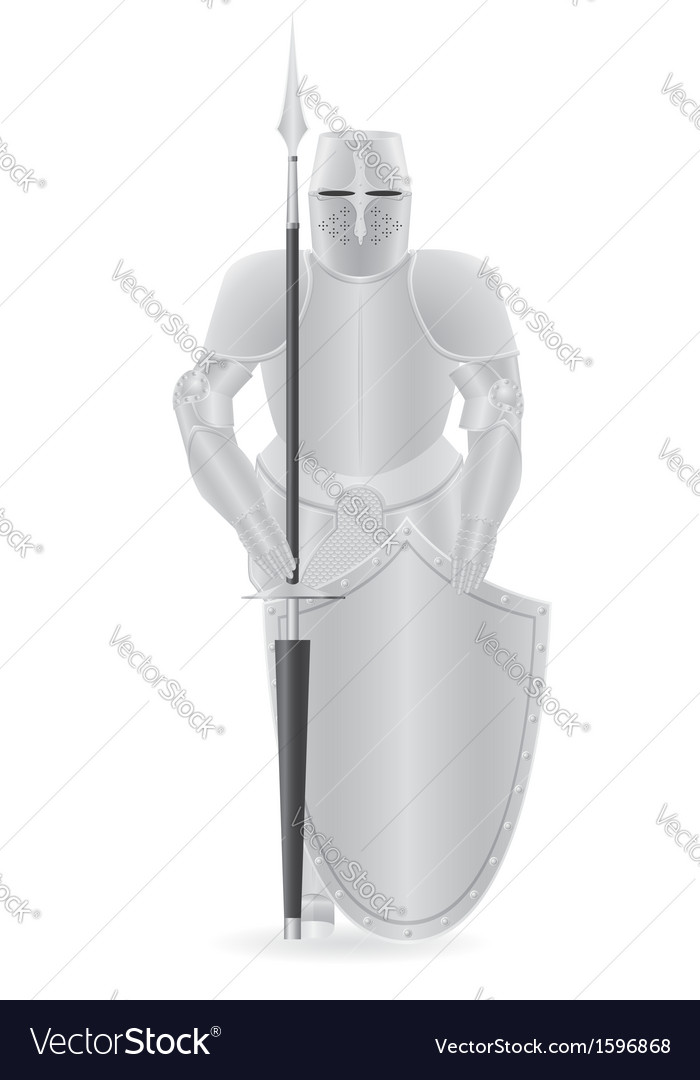 Knight armor 04 vector image