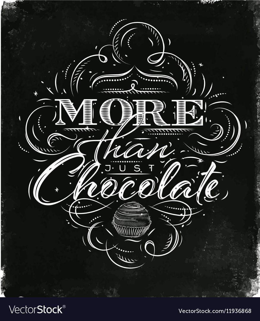 Poster chocolate black
