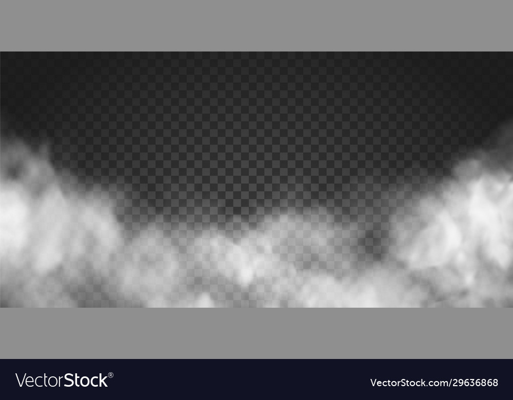 Realistic smoke cloud or gray fog vector