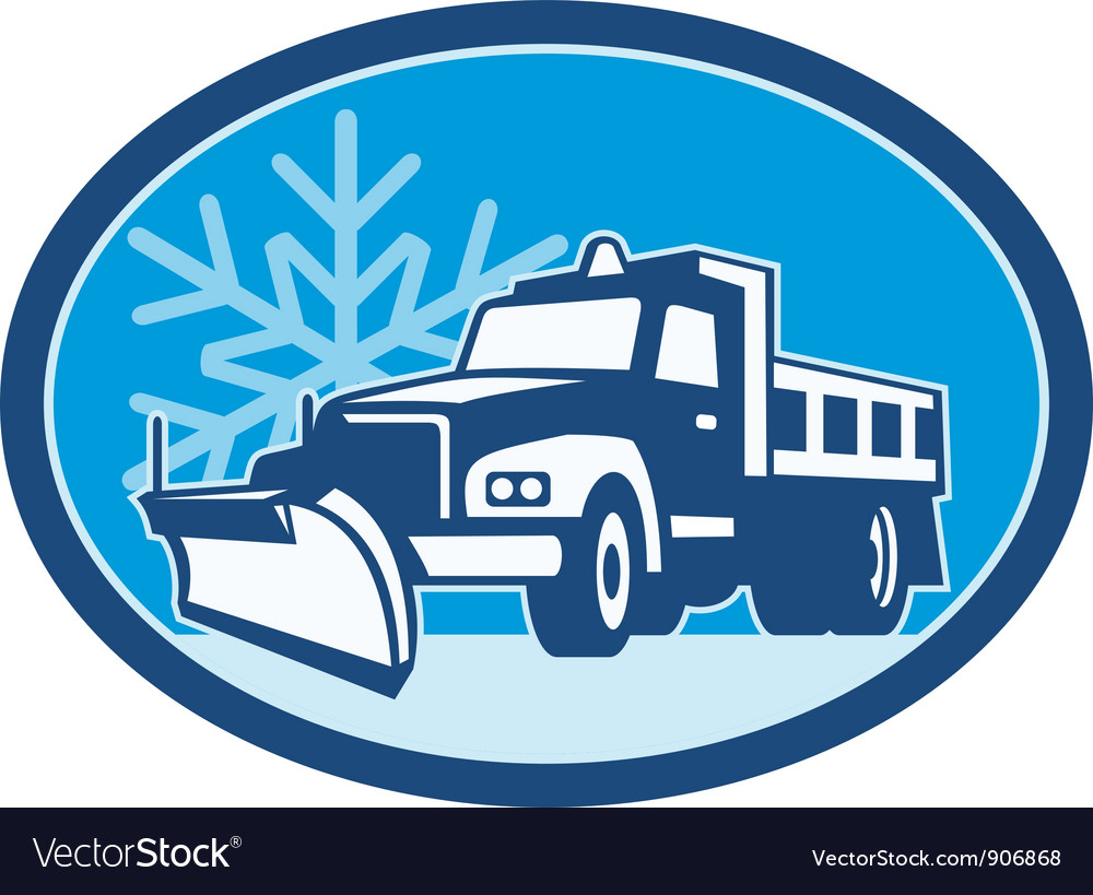 Snow Plow Truck Retro vector image
