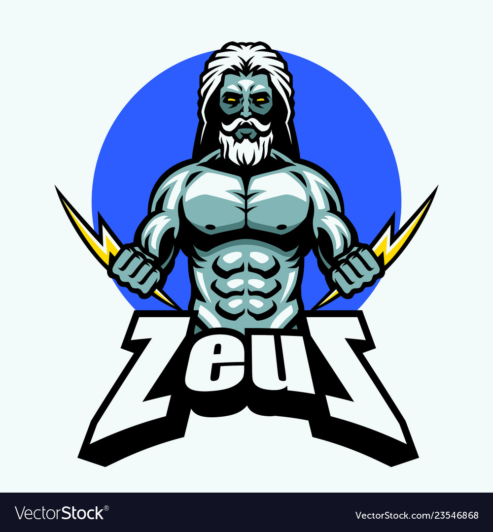 Zeus With Lightning Bolt Royalty Free Vector Image