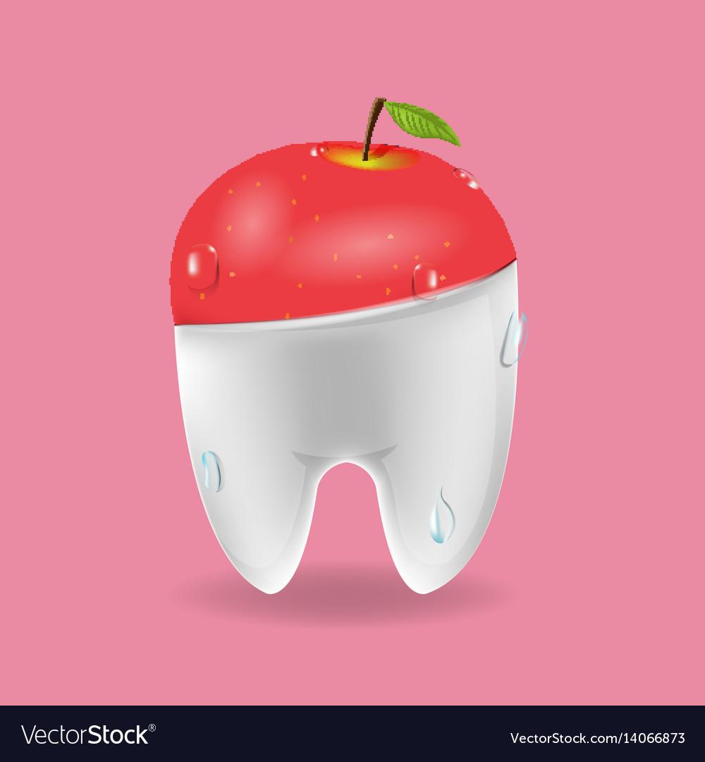 Apple tooth mixed dental symbol