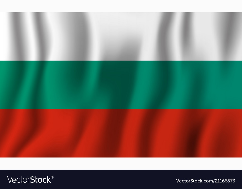 Bulgaria realistic waving flag national country