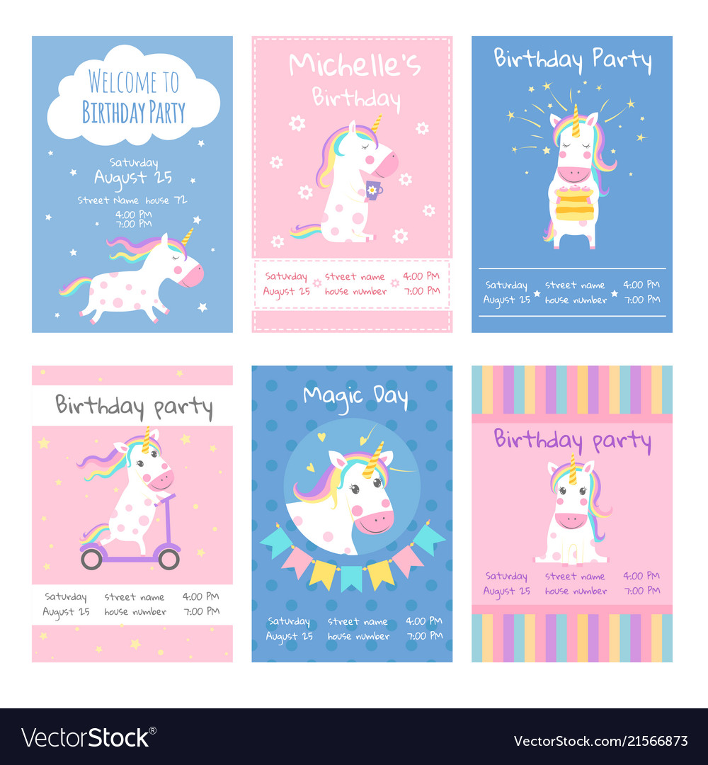 Cards invitations design template cards with