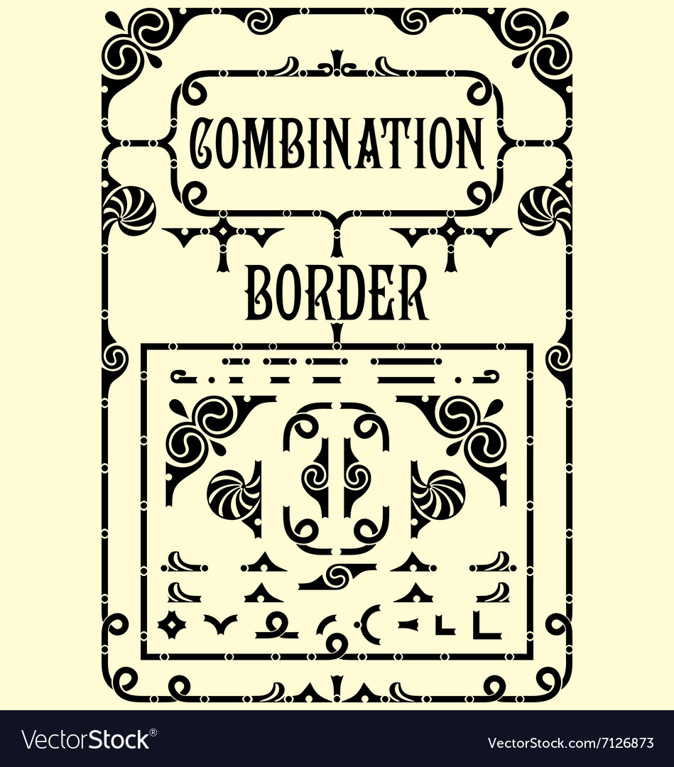 Combination Border vector image