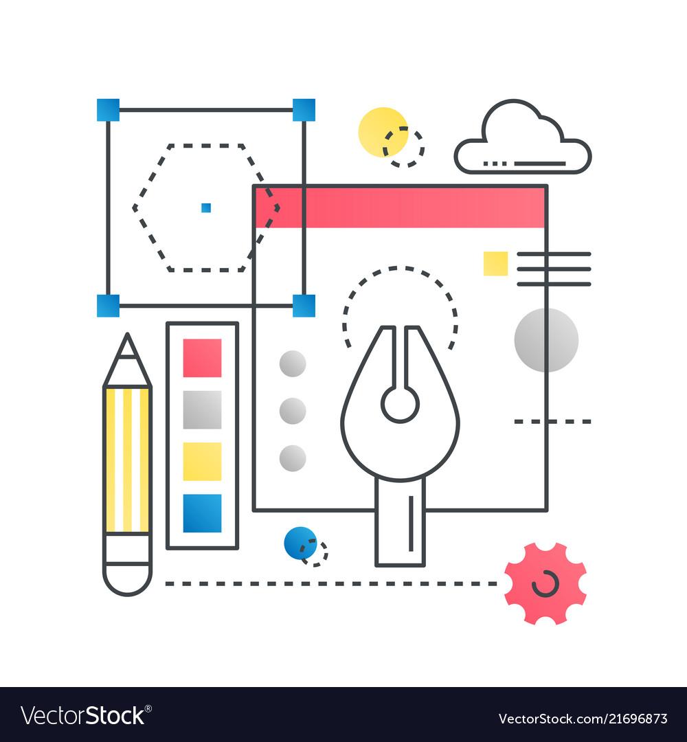 Design creative idea concept concept in