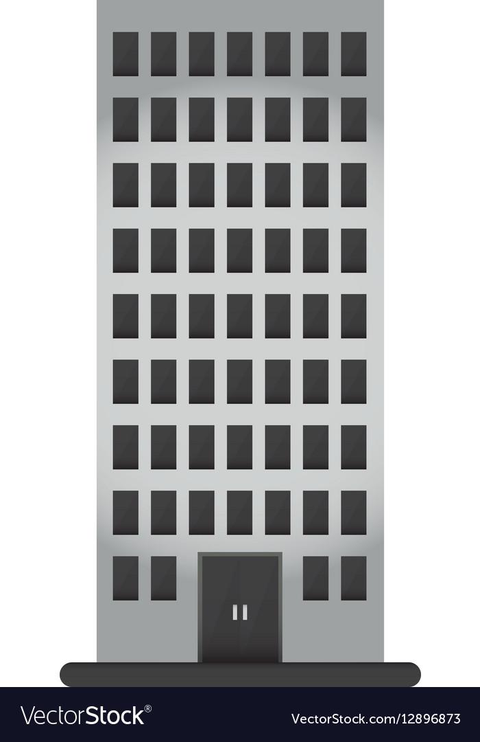 Gray apartment building line sticker