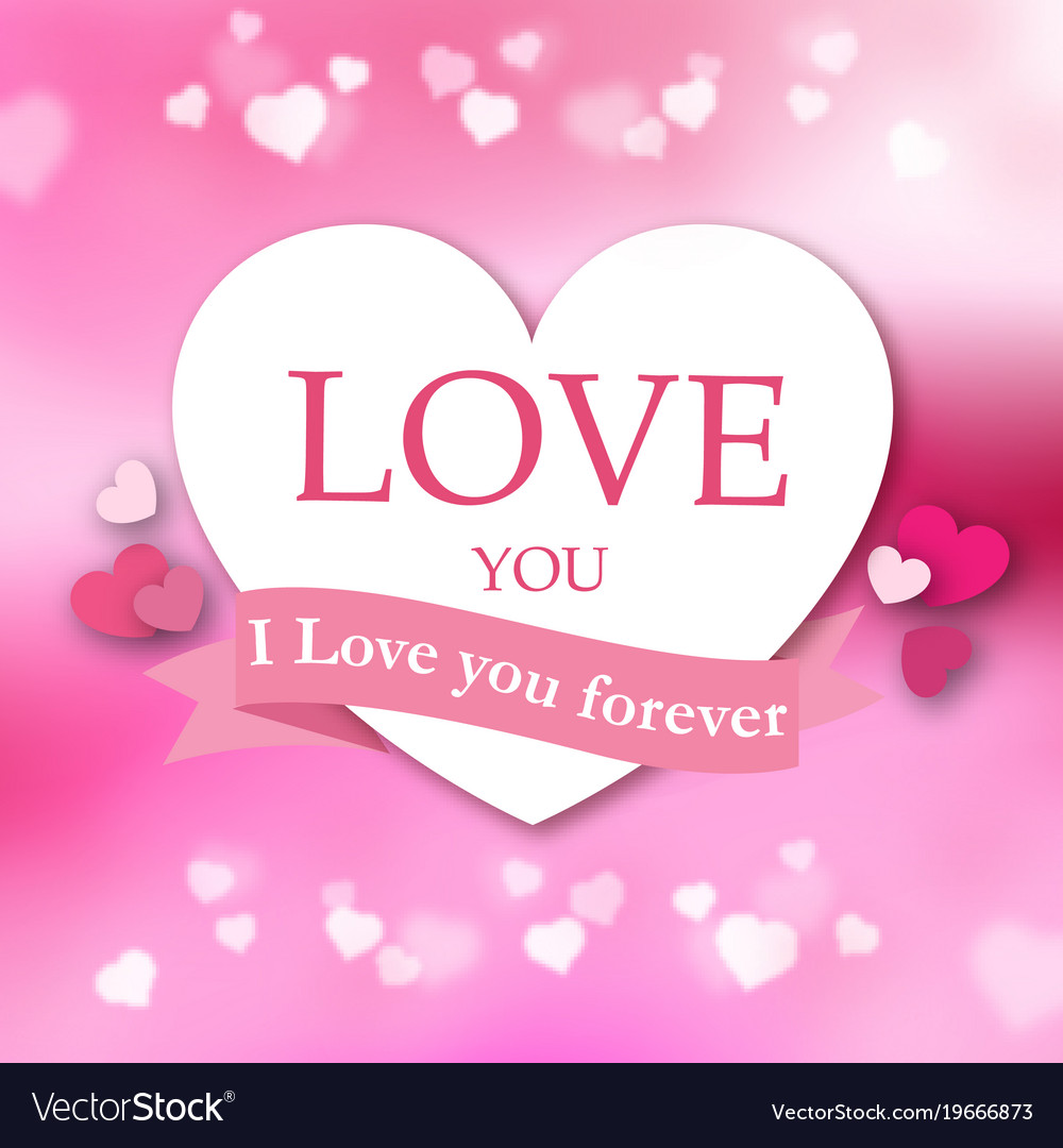 I Love You Forever Pink Ribbon White Heart Pink Ba