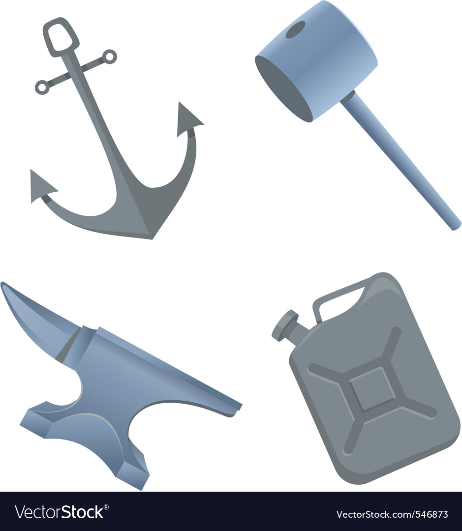 Iron things vector image