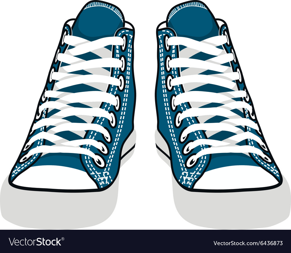 Isolated cartoon blue sneakers