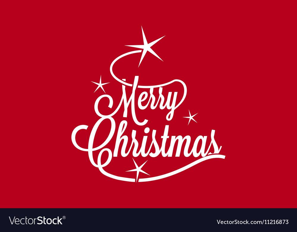 Merry Christmas greetings postcard vector image