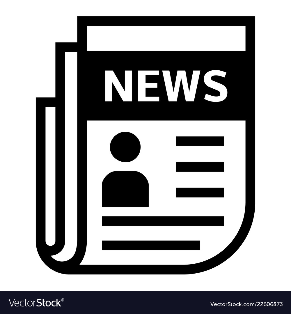 newspaper election icon simple style royalty free vector
