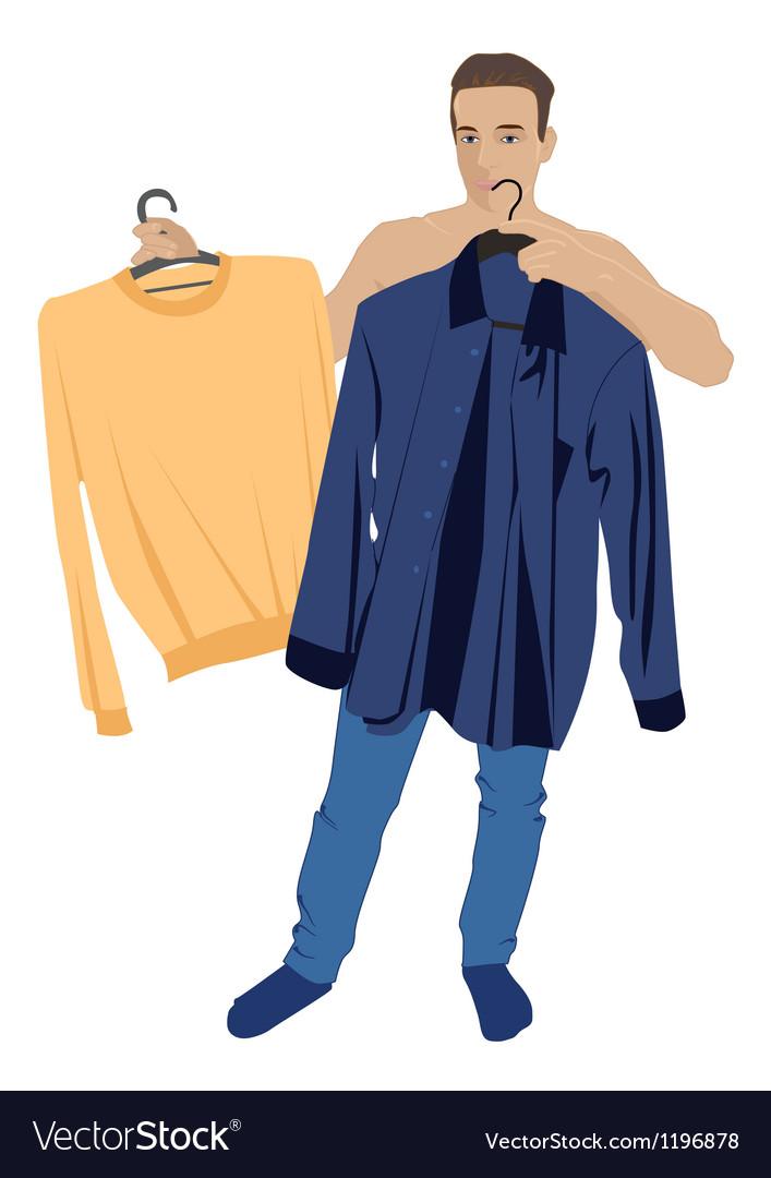 A man who chooses his clothes