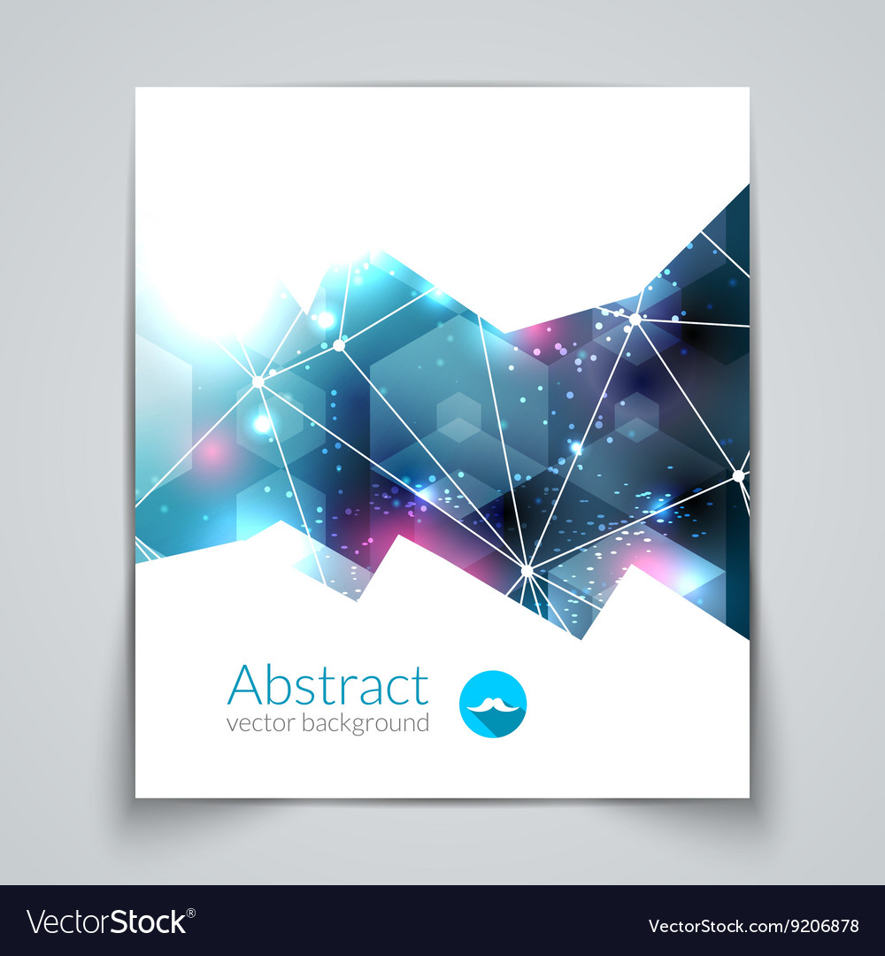 Abstract triangular 3D geometric colorful blue vector image