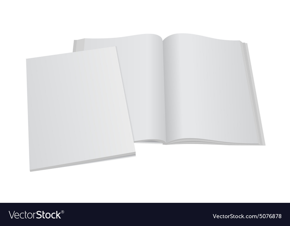 Blank magazine template with cover Royalty Free Vector Image