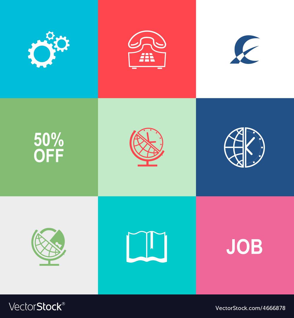 Business set vector image