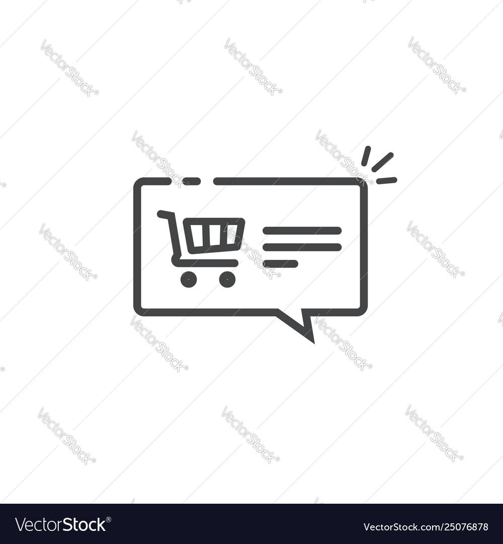 Ecommerce notification concept symbol line