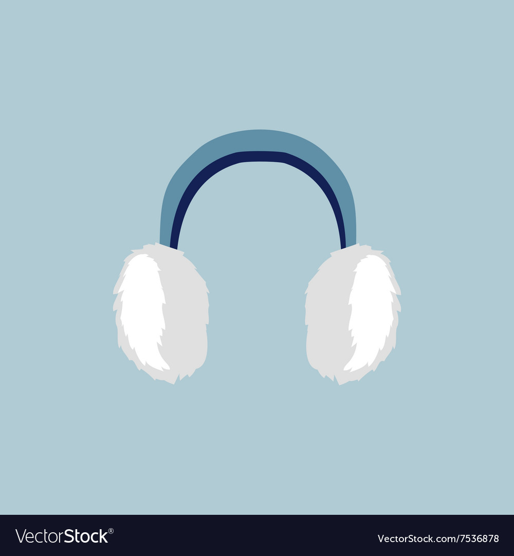 Flat Earmuffs Icon vector image