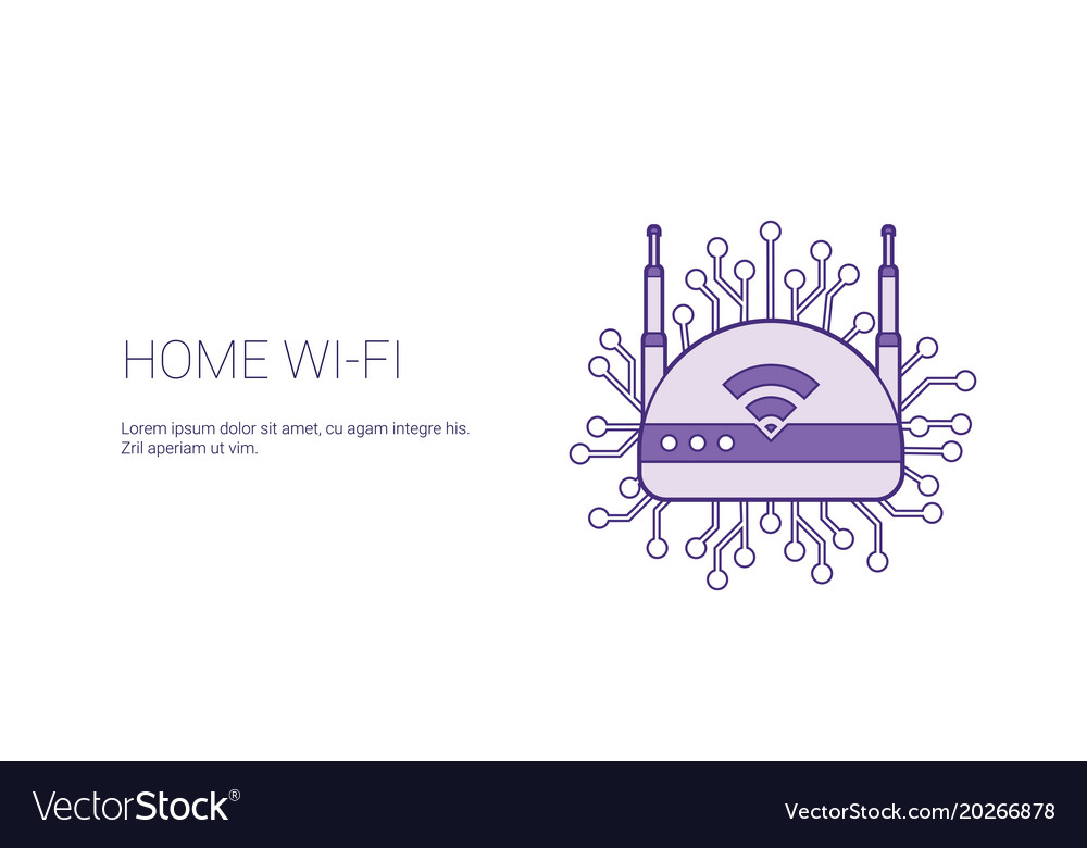 Home wifi wireless internet connection template