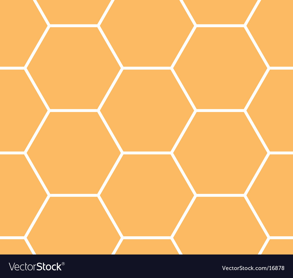 Honeycomb hexagonal pattern