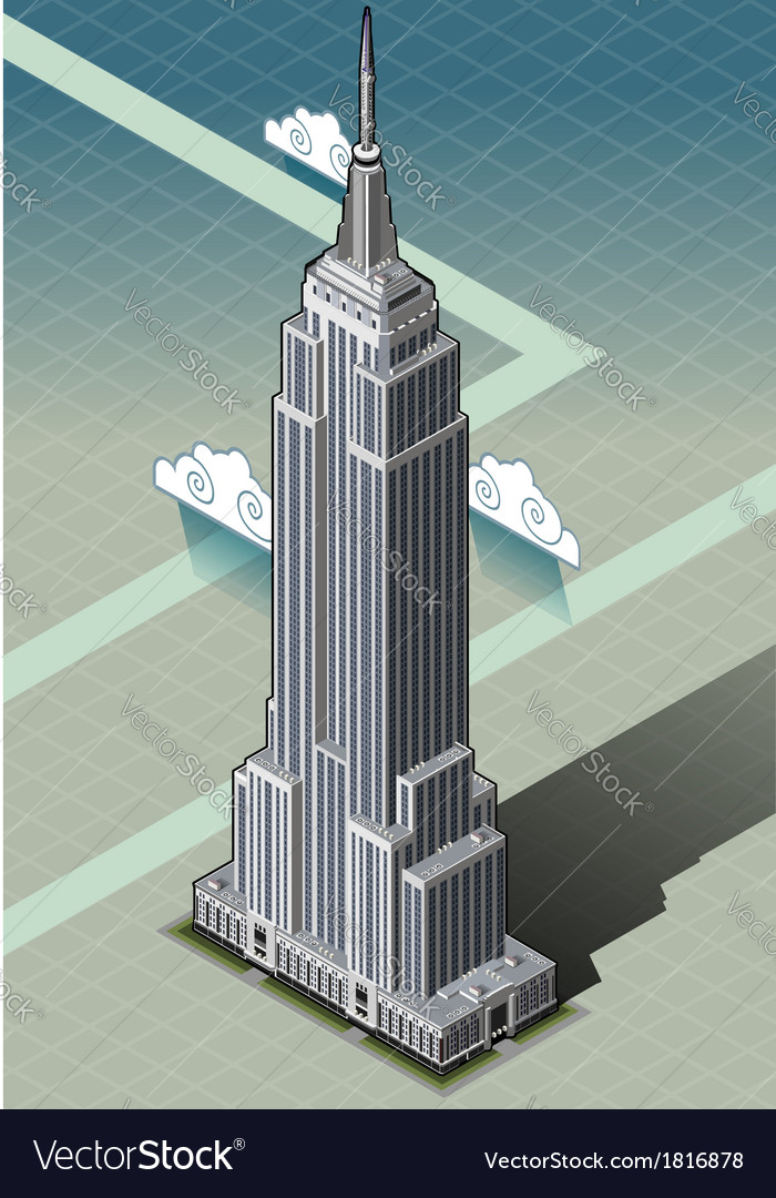 Isometric Empire State Building Royalty Free Vector Image