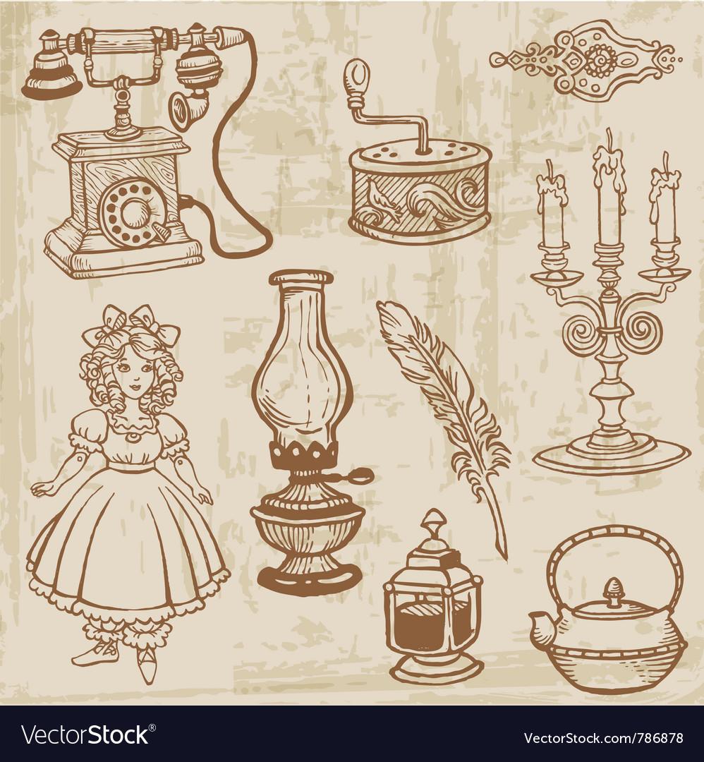 Vintage doodle elements