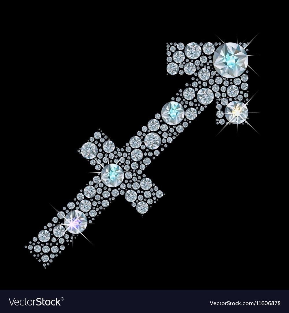 Zodiac Sagittarius vector image