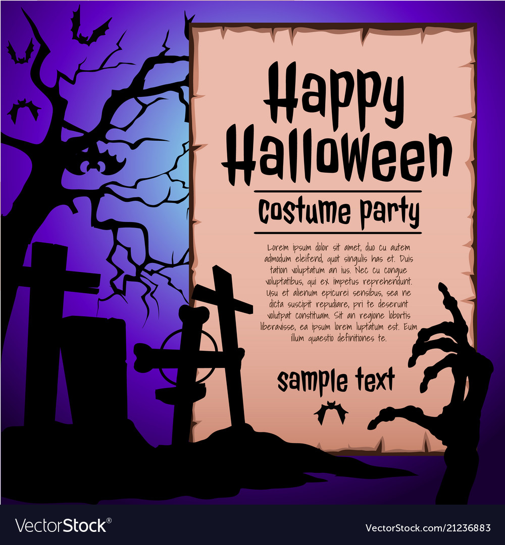 A poster on the theme of the halloween holiday a