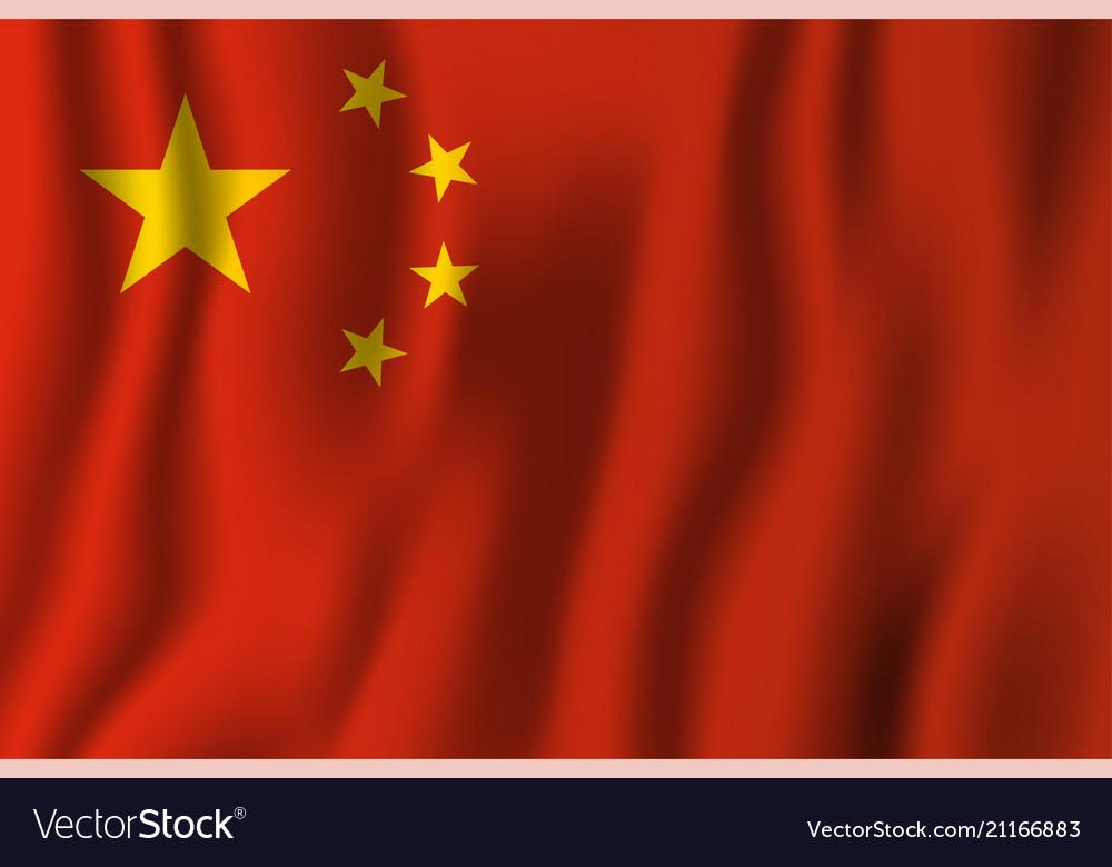 China realistic waving flag national country