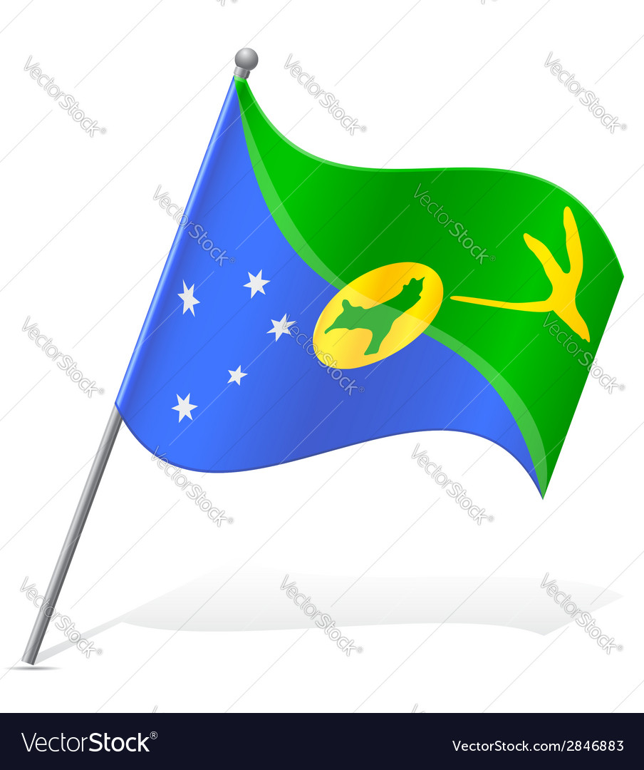 Christmas Island Flag.Flag Of Christmas Island