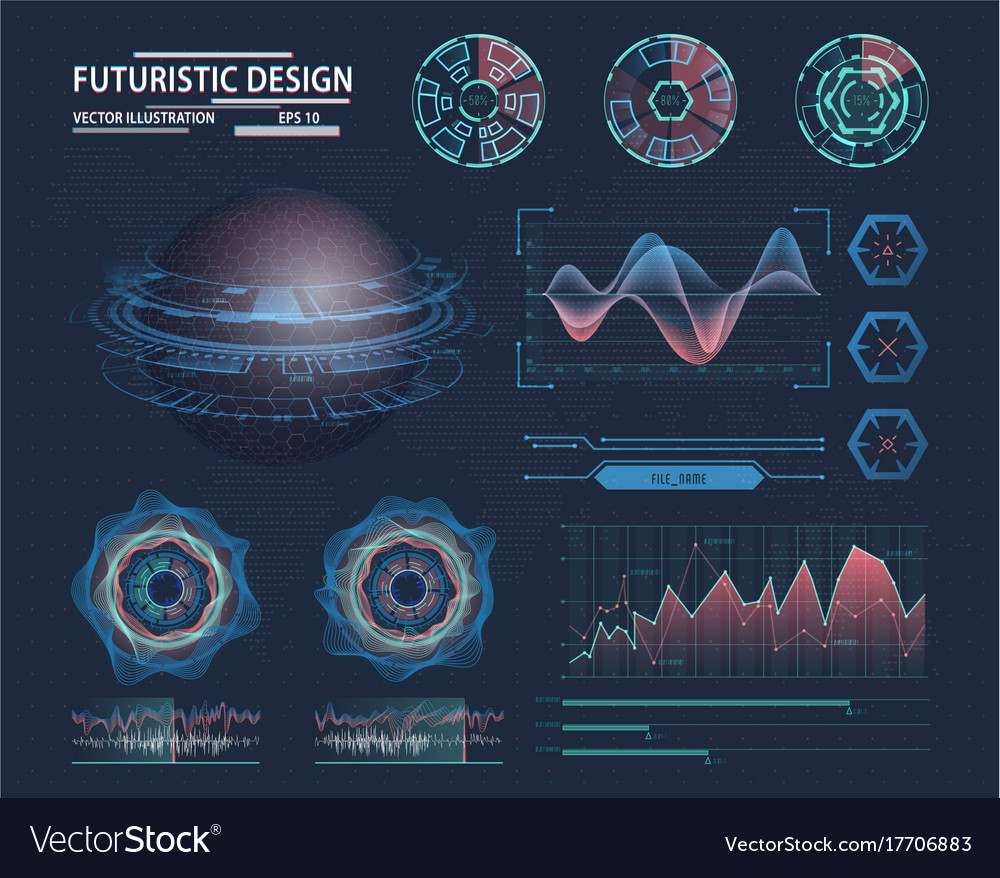 Infographic in futuristic design science theme