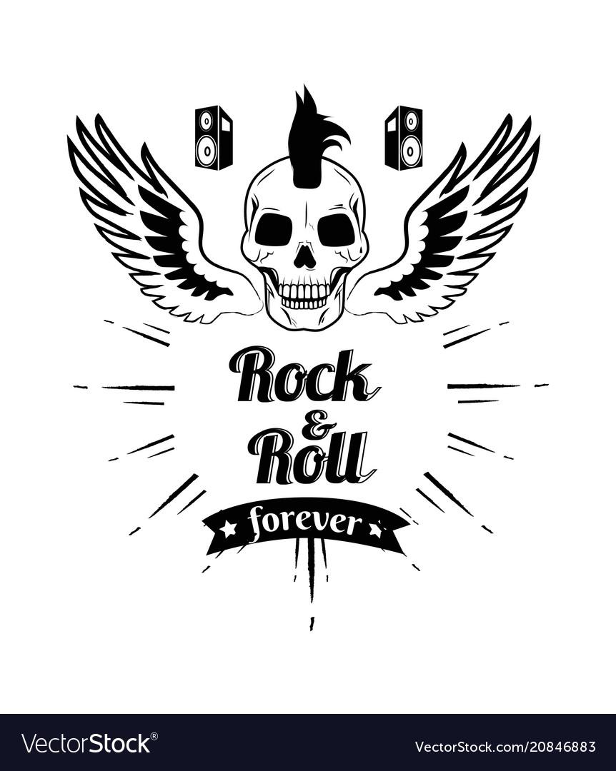 Rock n roll forever skull