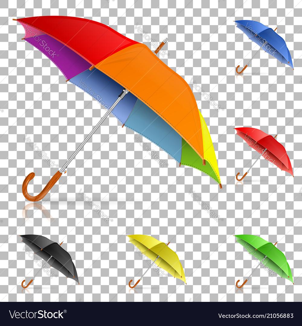 Set realistic umbrellas