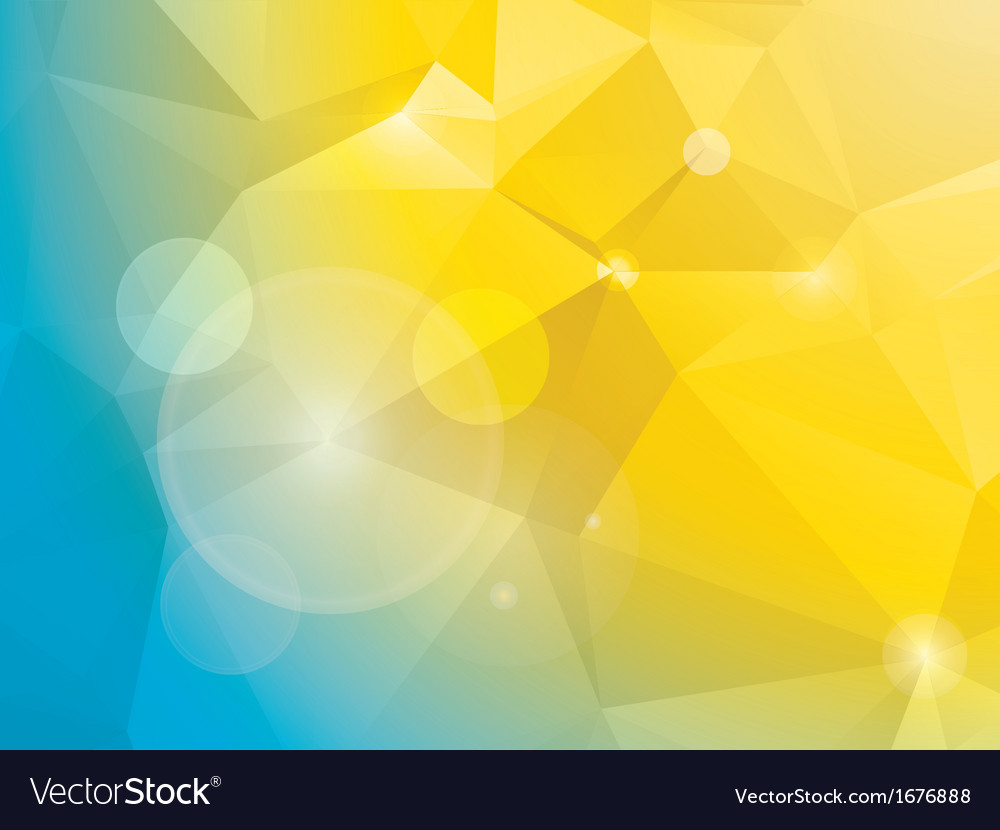abstract blue and yellow polygon mosaic background. Black Bedroom Furniture Sets. Home Design Ideas