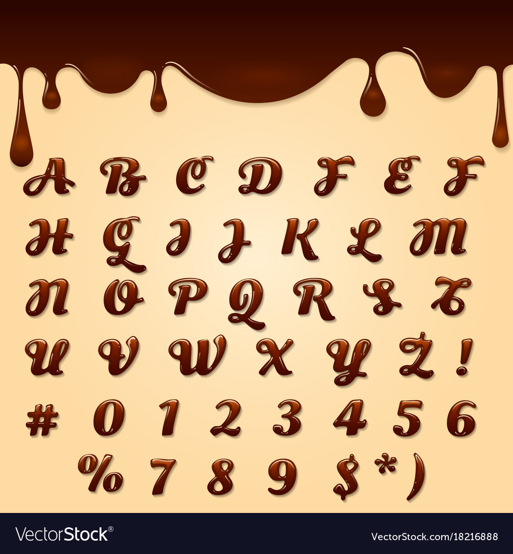 Chocolate made text