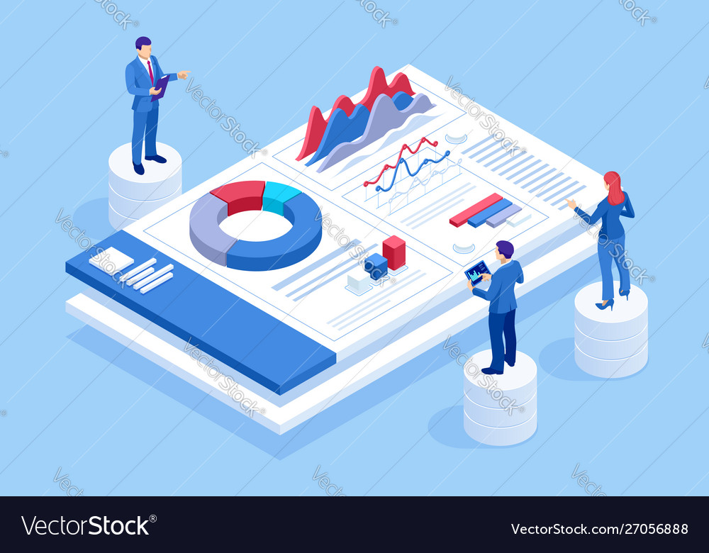 Isometric website and mobile website development vector