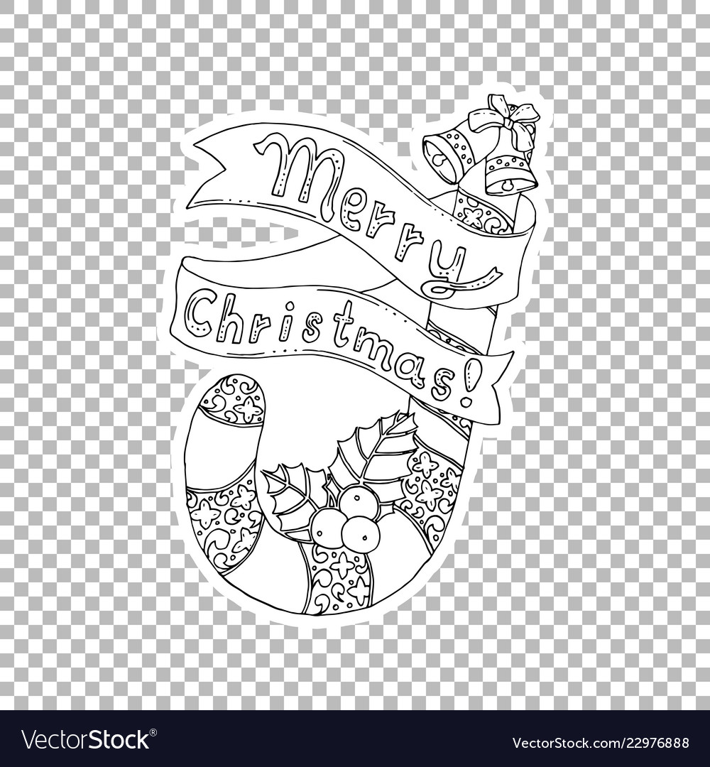 Merry christmas lettering hand drawn