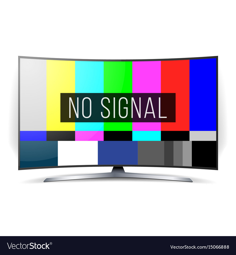 No signal tv test lcd monitor flat screen