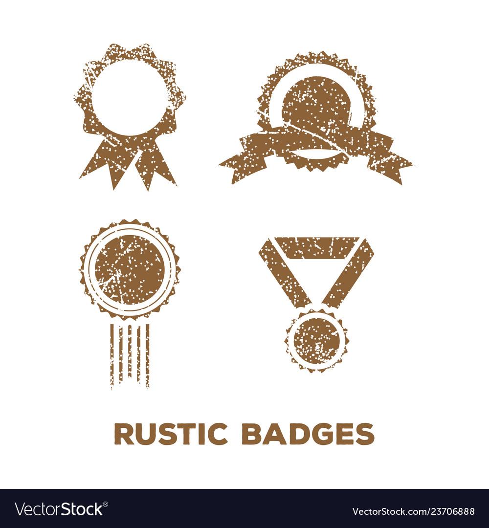 Rustic badge logo icon design template