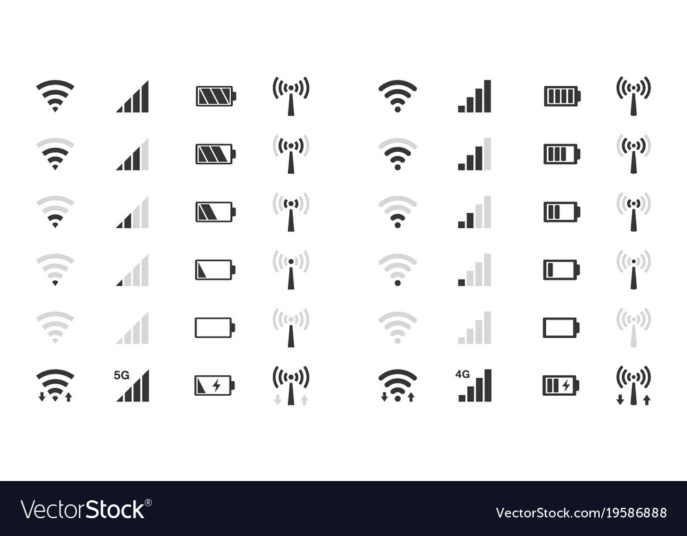 Wifi level icons signal strength indicator