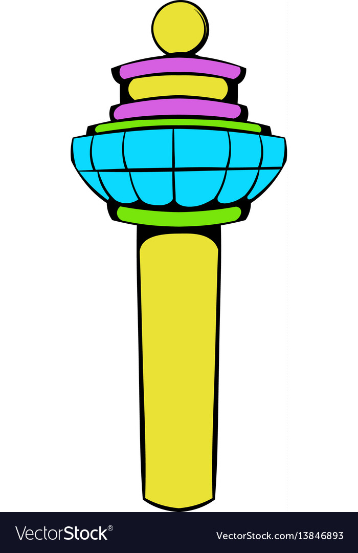 Airport control tower icon icon cartoon