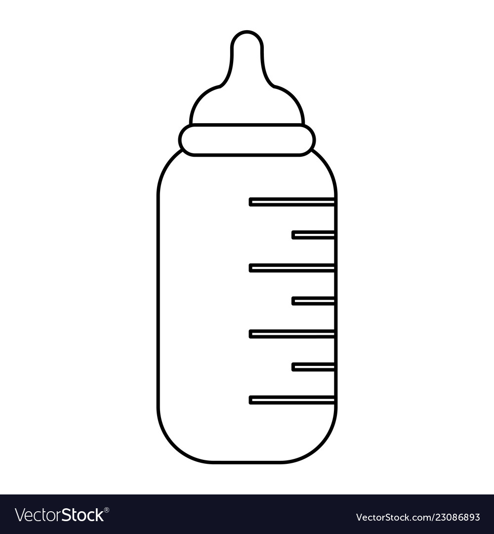 Baby bottle symbol black and white